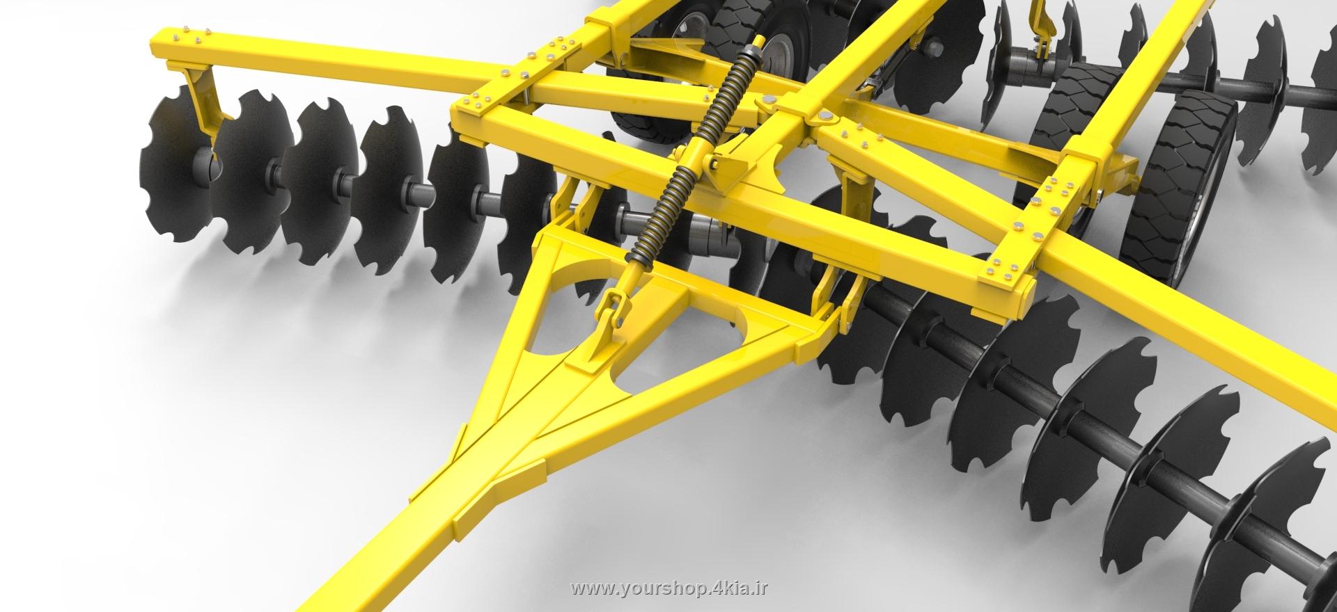 دیسک هارو ، طراحی دیسک هارو در سالیدورک ، مهندسی ماشین های کشاورزی ، آموزش سالیدورک