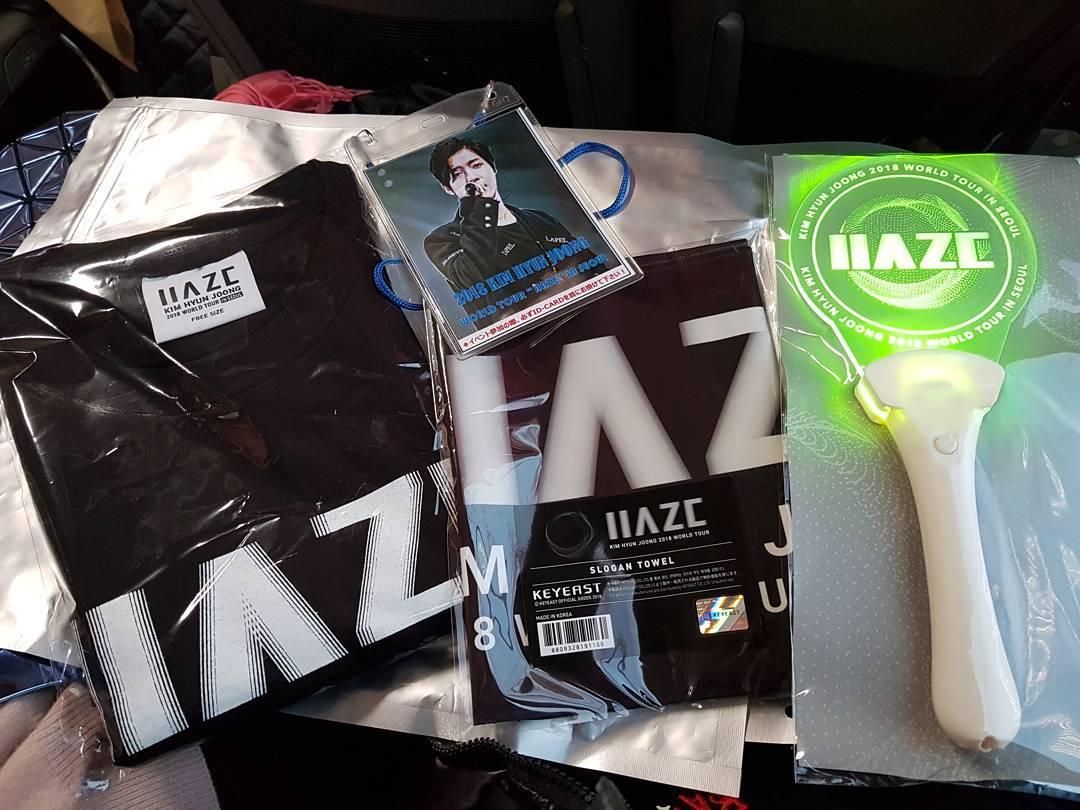 Kim Hyun Joong 2018 World Tour Haze in Seoul Official Goods - 2017.12.02