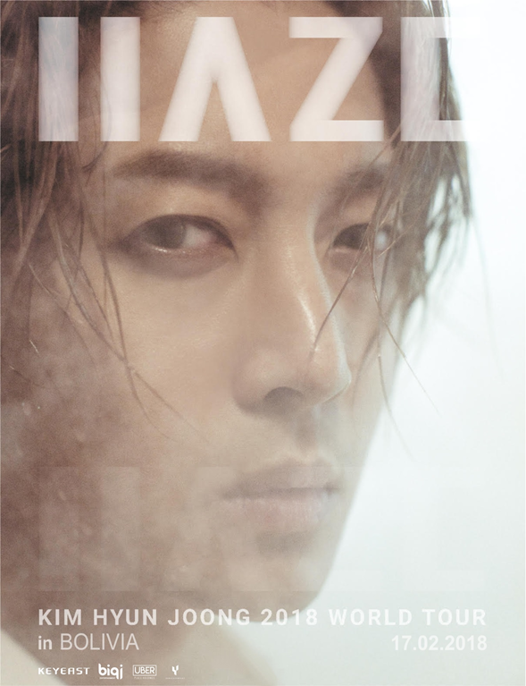 "[K.Notice - 김현중] Kim Hyun Joong 2018 World Tour ""HAZE"" in Bolivia and Mexico [2017.12.05]"