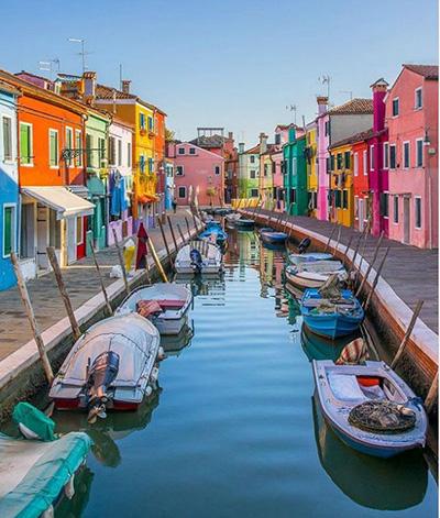 خیابان بوراو ونیز ایتالیا