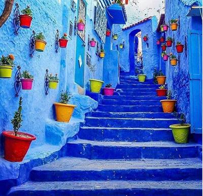 خیابان های شهر شفشاون مراکش
