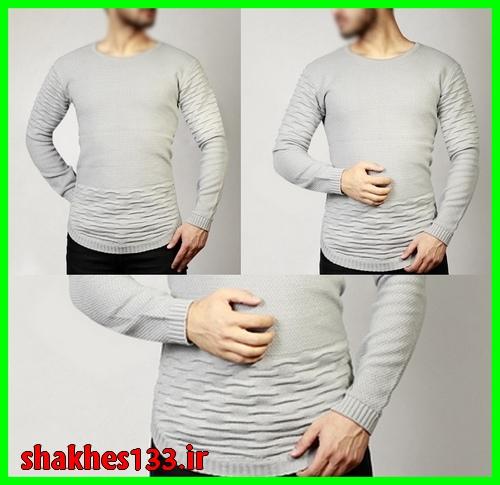 خرید پستی لباس بافت بلند پسرانه مردانه رنگ روشن