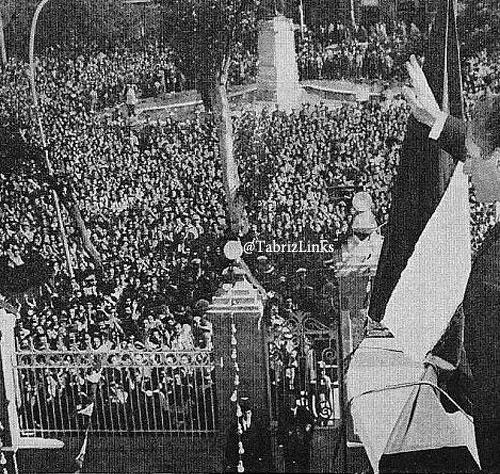 شاه در تبریز