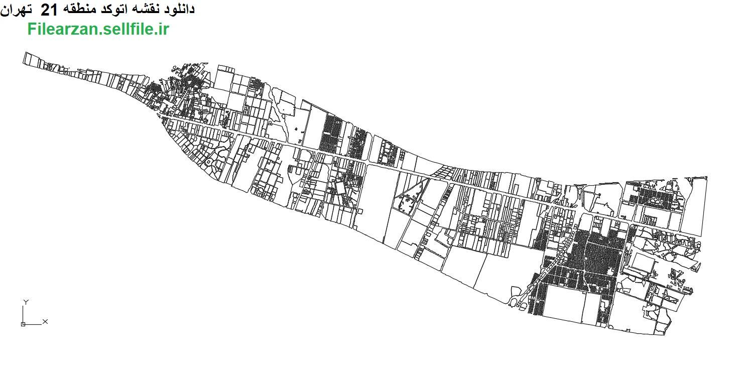 نقشه کد خام منطقه 21 تهران بصورت رایگان