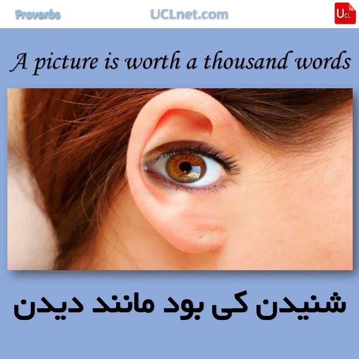 شنیدن کی بود مانند دیدن – A picture is worth a thousand words – ضرب المثل های انگلیسی – English Proverb