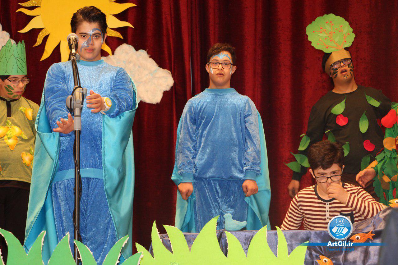 جشن یلدا با اجرای هنرمندانه فرزندان سندروم داون به روایت تصویر