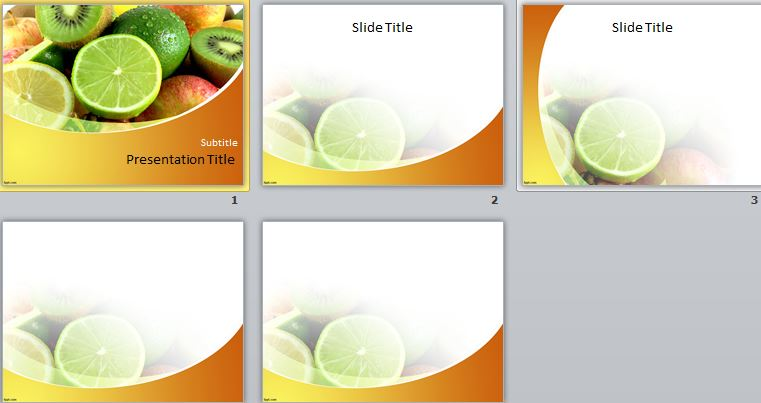 قالب پاورپوینت میوه ها