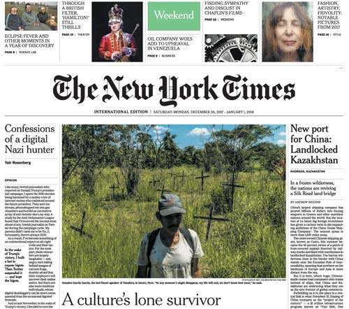 International New York Times 30 December 2017-01 January 2018