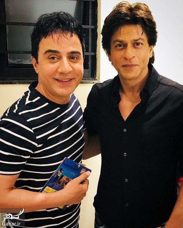 دیدار صمیمانه عمو پورنگ با شاهرخ خان در هند