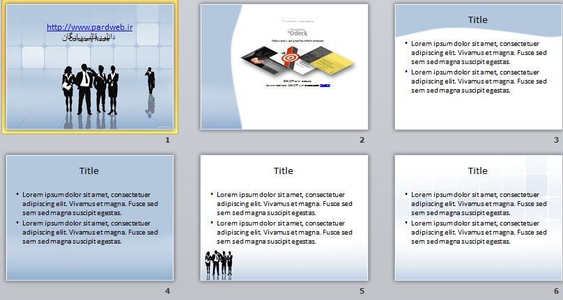 نمونه اسلاید های این قالب ها و تم های پاورپوینت