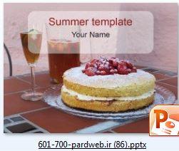 دانلود قالب پاورپوینت کیک و نوشیدنی