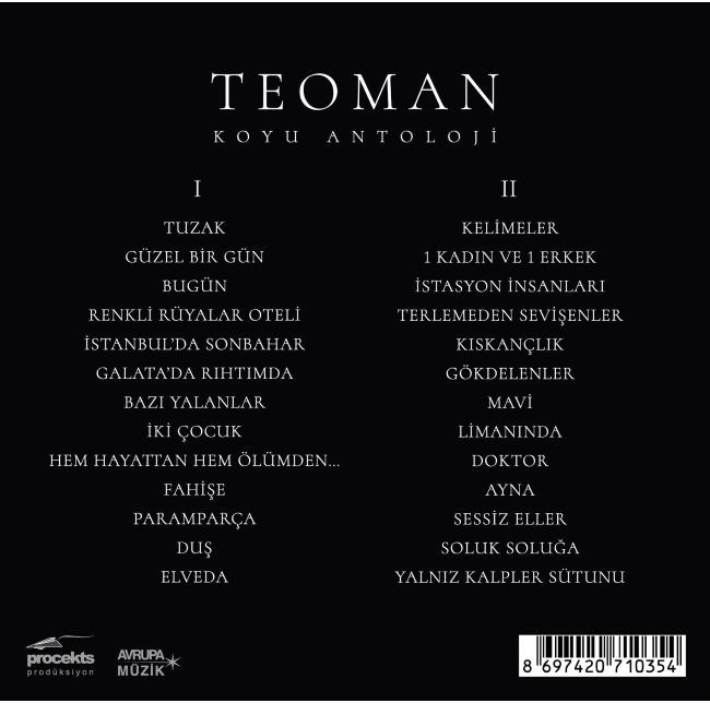 Teoman - Koyu Antoloji [2018] Albüm