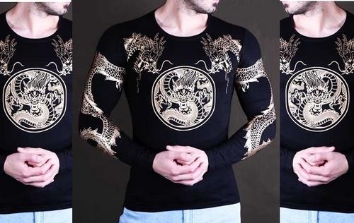 فروش بلوز تیشرت آستین بلند 3 بعدی اژدها مردانه