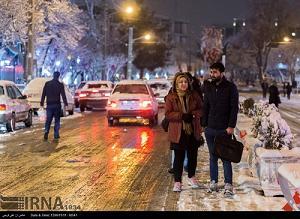 بارش برف در اراک مردم را خوشحال کرد