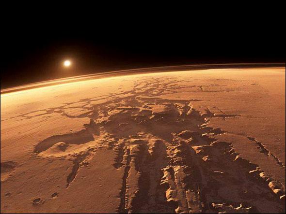 غرب خورشید از مریخ