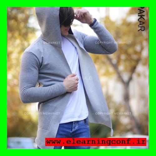 خرید آنلاین هودی طوسی مردانه