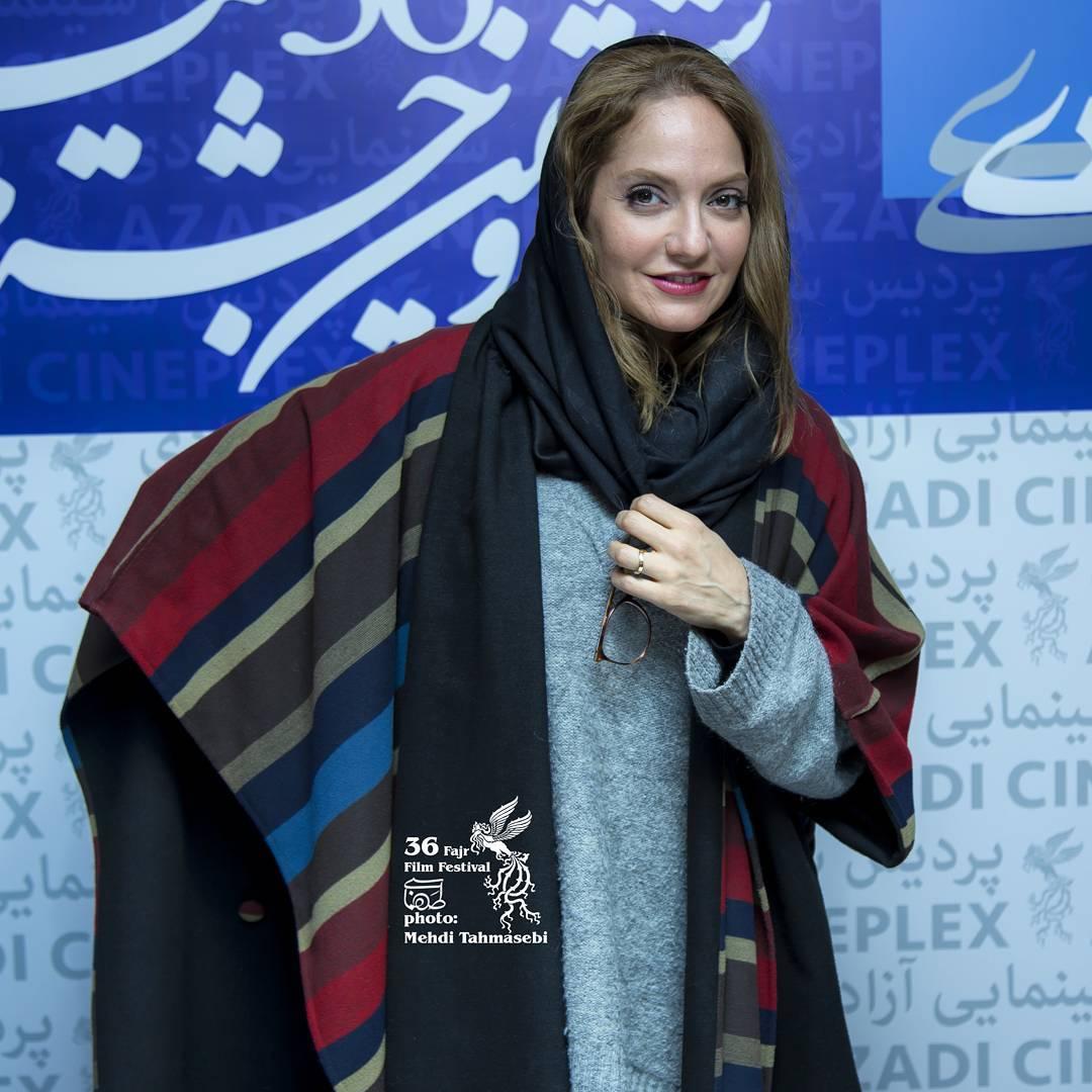 عکس های مهناز افشار در سی و ششمین جشنواره فیلم فجر