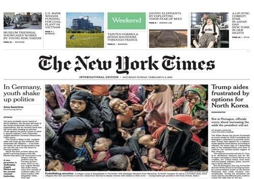 International New York Times 3-4 February 2018