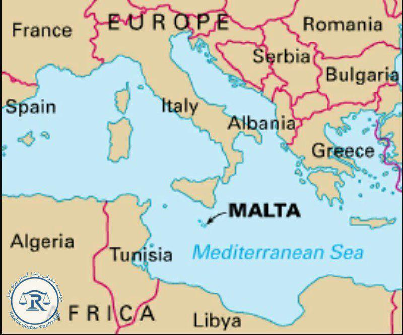 موقعیت کشور مالت در نقشه