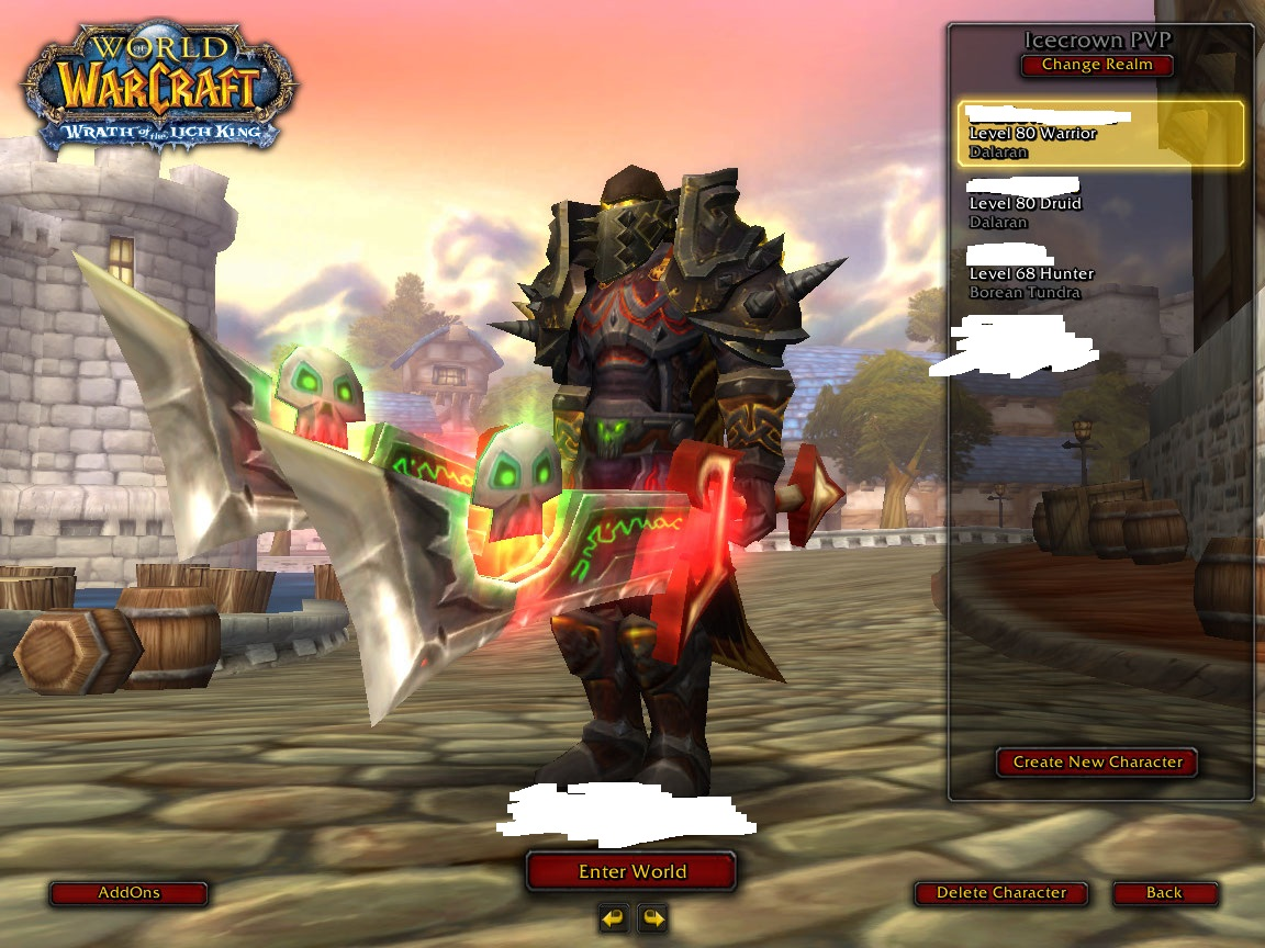 فروش اکانت - کلاس Warrior + Druid - سرور warmane.com