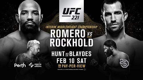 نتایج رویداد :UFC 221: Romero vs. Rockhold