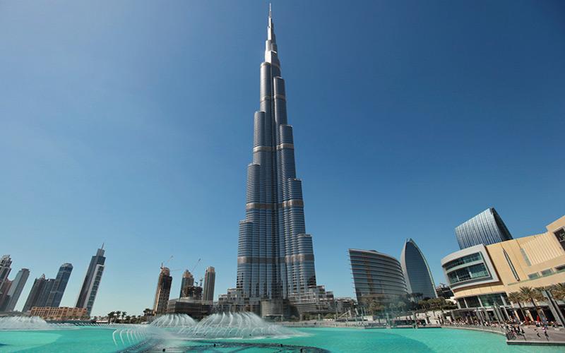 برج خلیفه در دبی؛ امارات متحده عربی
