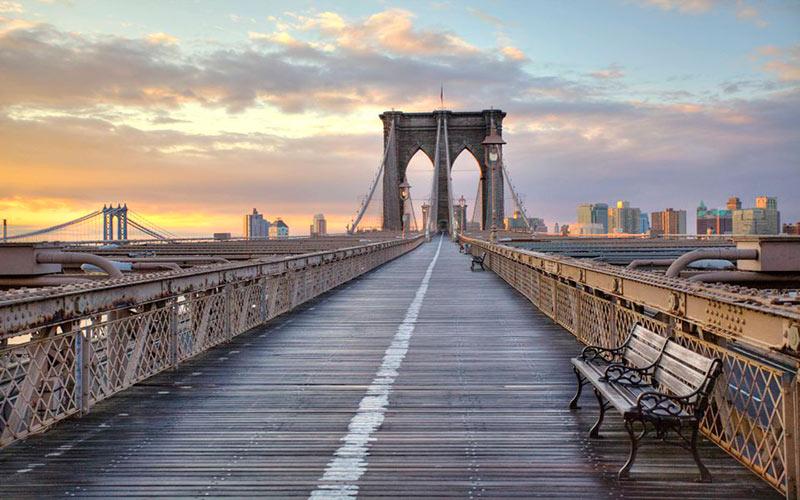 پل بروکلین در نیویورک؛ آمریکا