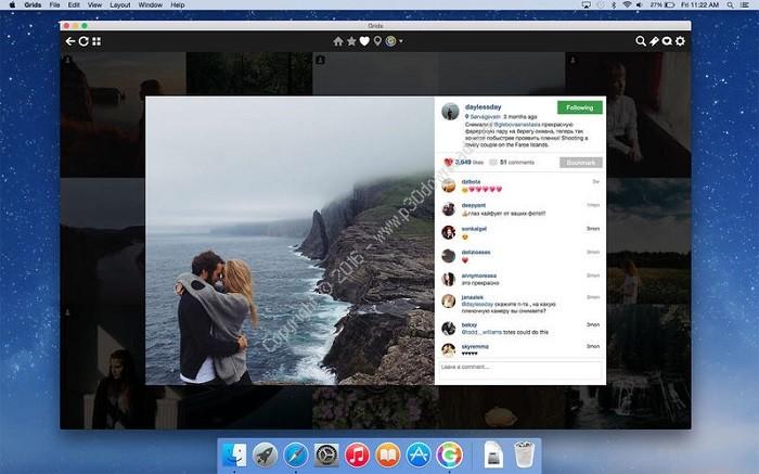 دانلود اینستاگرام برای سیستم عامل مک