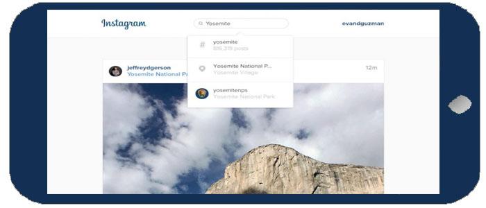امکان جدید جست و جو به نسخهی تحت وب اینستاگرام