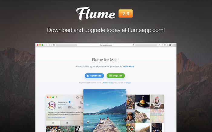دانلود اینستاگرام Flume برای سیستم عامل مک