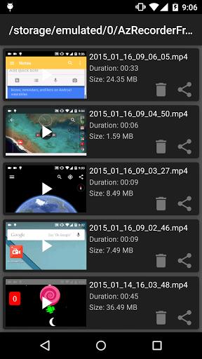 دانلود برنامه فیلم برداری از صفحه نمایش گوشی AZ Screen Recorder Pro