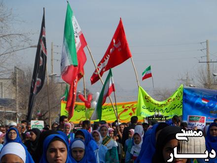 حضور پرشور مردم نورآبادممسنی در راهپیمایی 22 بهمن 96