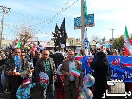 راهپیمایی 22 بهمن در نورآبادممسنی