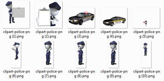 قالب سه بعدی پاورپوینت پلیس