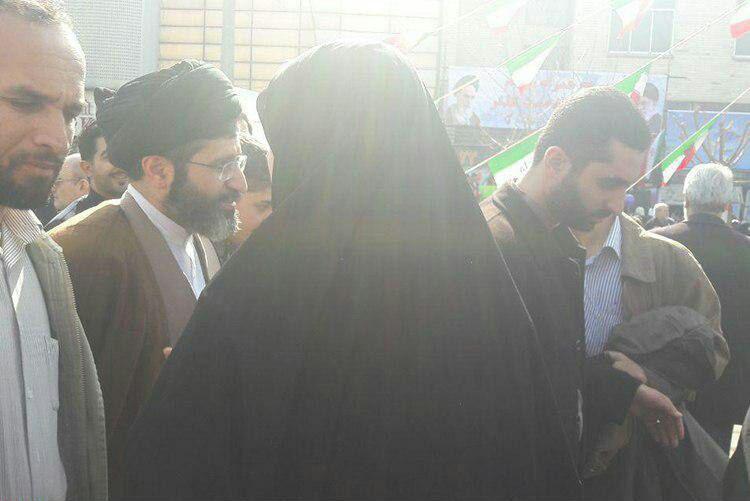 سید مجتبی خامنهای فرزند رهبر انقلاب در راهپیمایی ۲۲ بهمن
