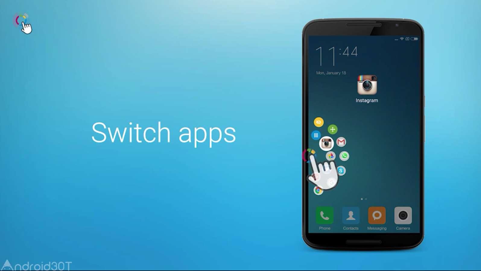 برنامه اسکرین شات گرفتن از صفحه fooview دستیار لمسی هوشمند