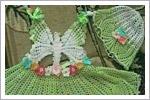 سارافون دخترانه با طرح پروانه