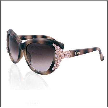 عینک آفتابی دیور نگین دار مدل 1666 Christian Dior