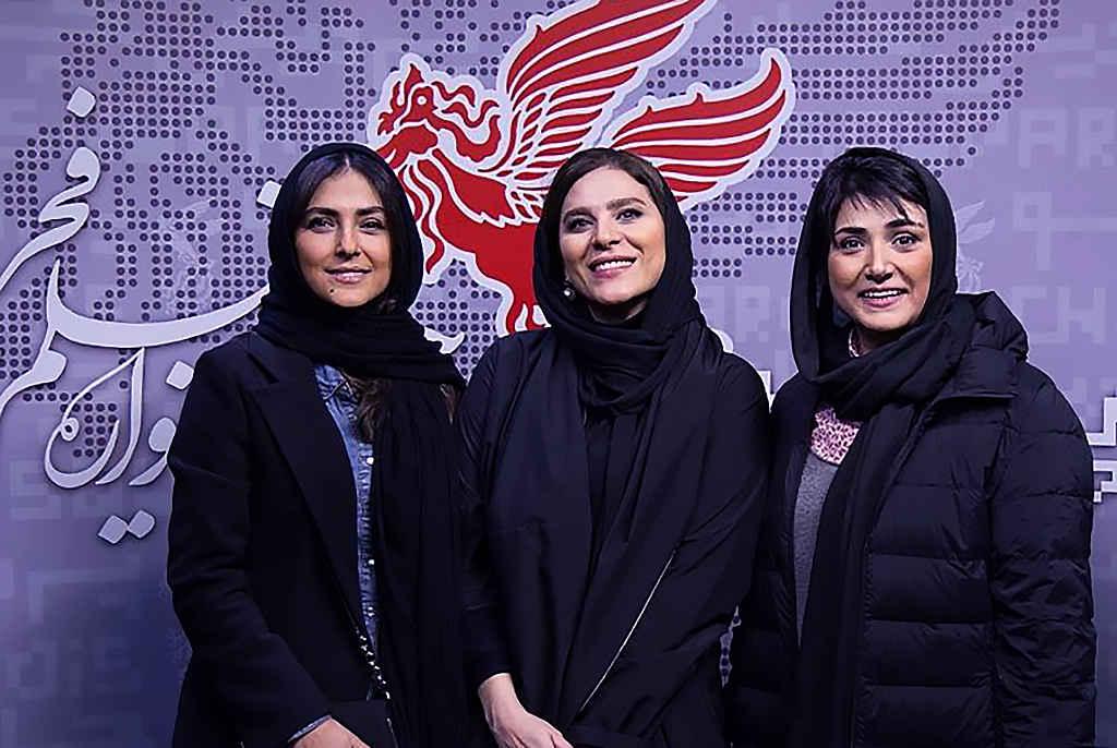 بازیگران باران کوثری، هدی زینالعابدین و سحر دولتشاهی سینمایی در جشنواره فیلم فجر