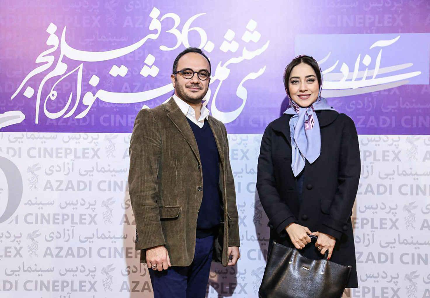 احسان کرمی مجری و بهاره کیان افشار بازیگر در جشنواره فیلم فجر