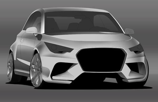 رندرینگ خودرو در فوتوشاپ