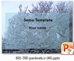 دانلود تم پاورپوینت برف و درخت