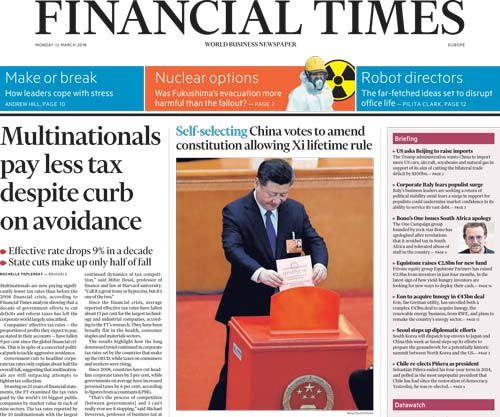 Financial Times Europe 12 March 2018