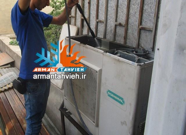 سرويس كولر گازي شمال تهران،شركت آرمان تهويه