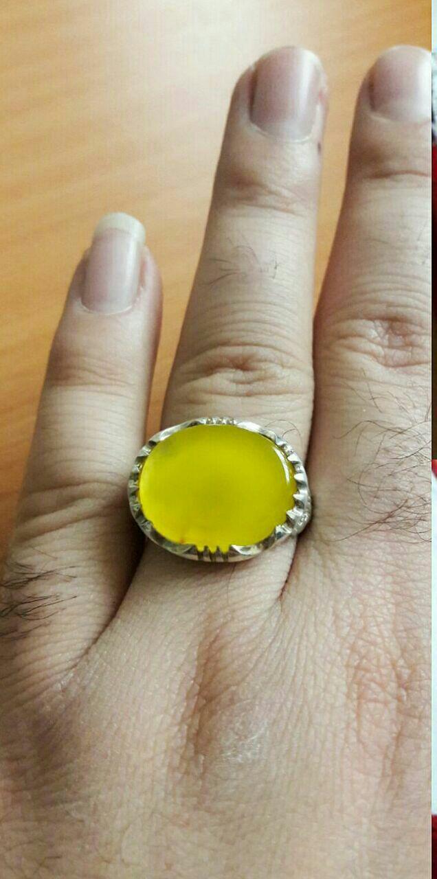 انگشتر عقیق زرد شرف الشمس حکاکی