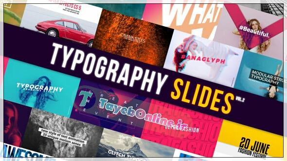 پروژه آماده افتر افکت Typography slide