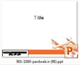 قالب پاورپوینت هواپیما