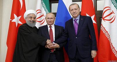نشست سران سه کشور ايران روسيه و ترکيه در آنکارا