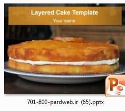 قالب پاورپوینت کیک خامه ای