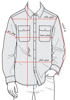جدول سایزبندی پوشاک استوک مردانه